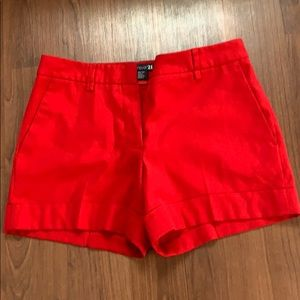 Forever 21 Red Cuffed Shorts w Pockets
